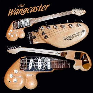 custom made Wangcaster funny looking guitar
