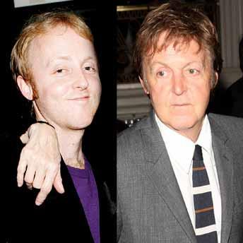 Paul and son James McCartney